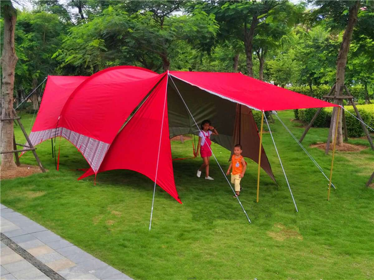 Wise Tents® Single Frame Rod Outdoor Sunshade Awning 2