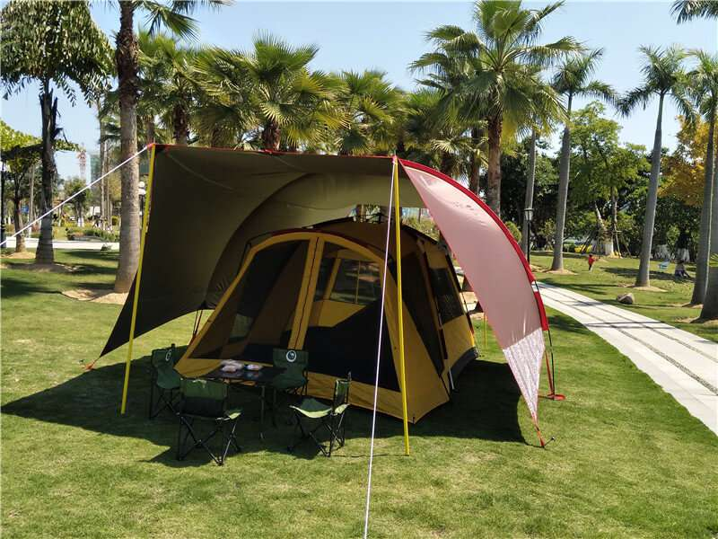 Wise Tents® Single Frame Rod Outdoor Sunshade Awning 4