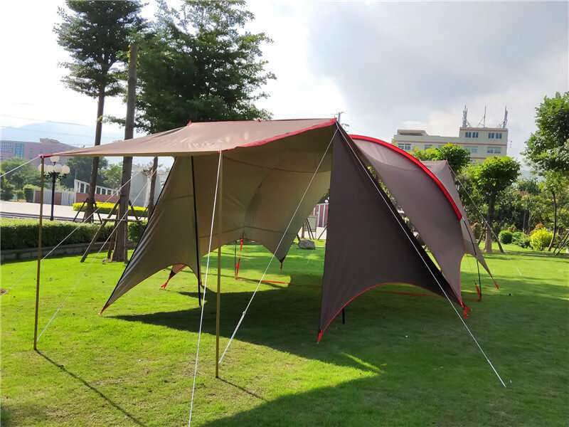 Wise Tents® Single Frame Rod Outdoor Sunshade Awning 3