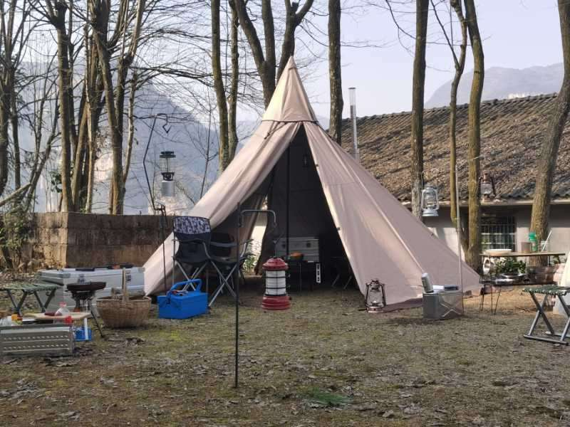 Mercury Yarn Cotton Canvas Tent with Wood Stove Jack - Wise Tents®