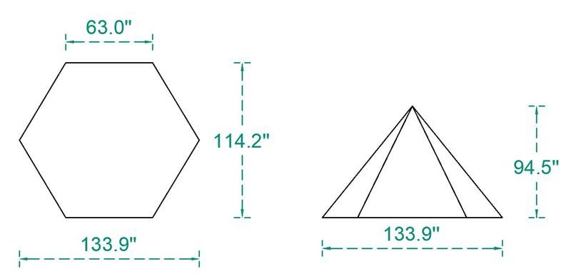 Mercury Hot Tent Teepee Tent Outdoor Camping For 4 Person